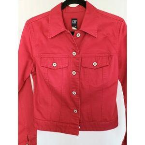 GAP Jackets & Coats - GAP denim jacket, Red, Size Small